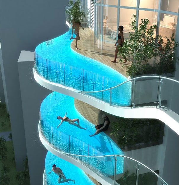 balcony pool