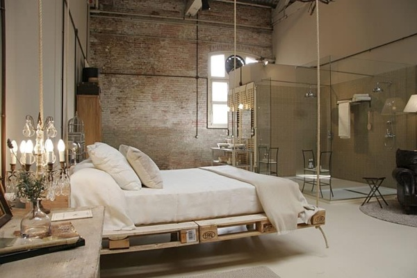 Bedroom-with-hanging-bed