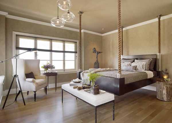 Elegant-hanging-bed-with-custom-designed-ropes-set-in-a-classy-bedroom