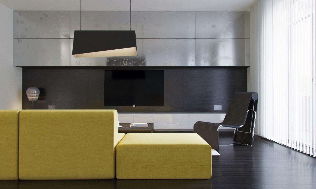 black-and-steel-living-room